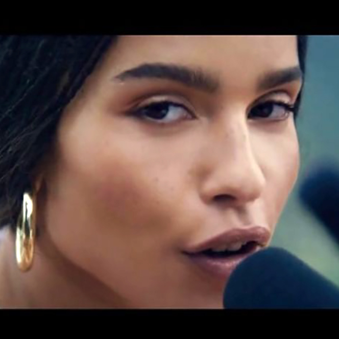 Image of Zoë Kravitz from 2019 Michelob Super Bowl commercial