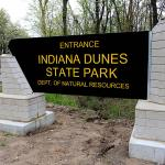 Indiana Dunes State Park sign