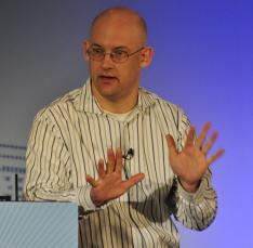 Clay Shirky speaking at DrupalCon